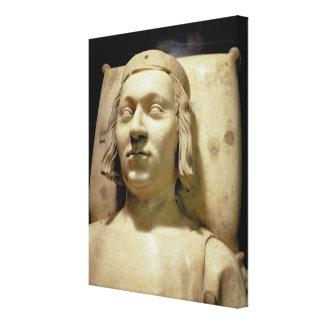 """Charles V (las 1338-80) efigies """"sabia"""" de la tumb Impresiones En Lona Estiradas"""