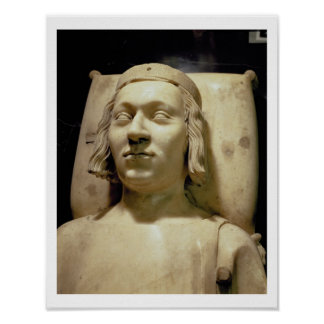 "Charles V (las 1338-80) efigies ""sabia"" de la tumb Póster"