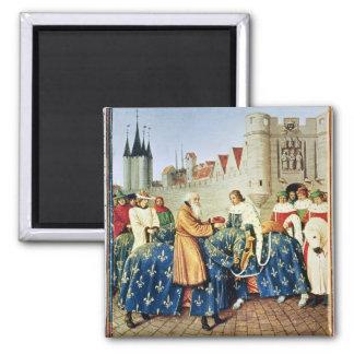 Charles V  receiving Emperor Charles IV Magnet