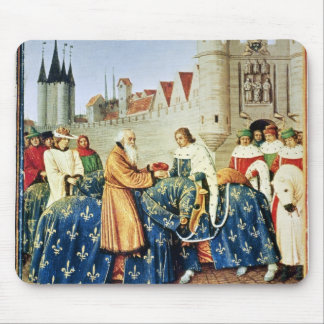 Charles V  receiving Emperor Charles IV Mouse Pad