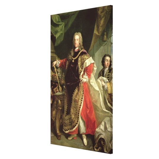 Charles VI , Holy Roman Emperor wearing the Canvas Print