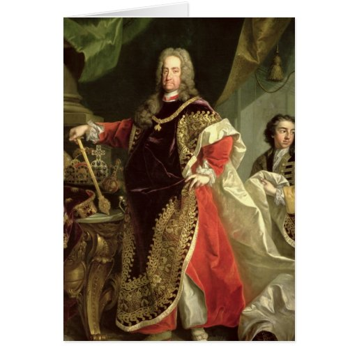 Charles VI , Holy Roman Emperor wearing the Card