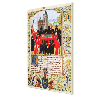 Charles VI of France's funeral Canvas Print