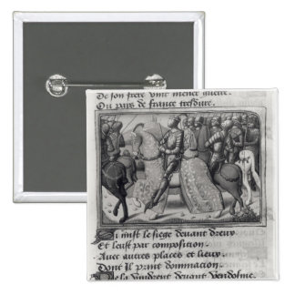 Charles VII  and Joan of Arc at the Siege of Pinback Button