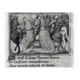 Charles VII  and Joan of Arc at the Siege of Post Card