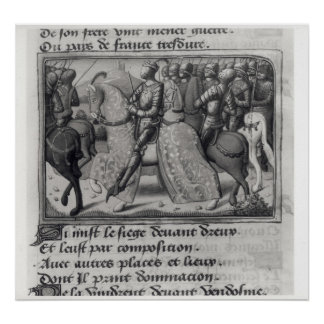 Charles VII  and Joan of Arc at the Siege of Poster