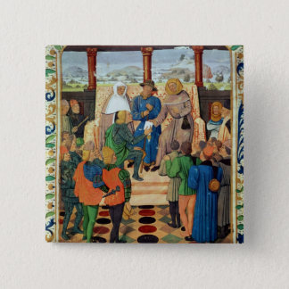 Charles VII  giving a document to Joan of Arc Pinback Button