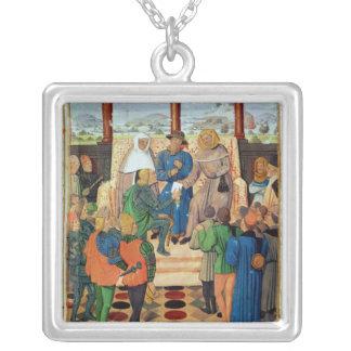 Charles VII que da un documento a Juana de Arco Grímpola