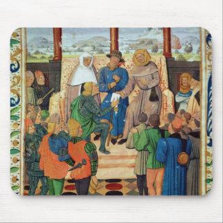 Charles VII que da un documento a Juana de Arco Alfombrilla De Raton