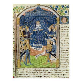 Charles VII rodeado por su corte Tarjeta Postal