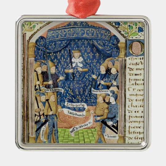 Charles VII  Surrounded by his Court Metal Ornament