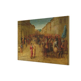 Charles VIII 1470-98 entering Florence c 1518 Gallery Wrapped Canvas