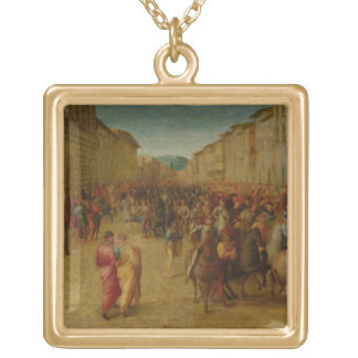 Charles VIII (1470-98) entering Florence, c.1518 ( Gold Plated Necklace