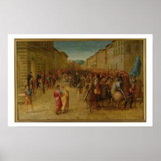 Charles VIII (1470-98) entering Florence, c.1518 ( Poster