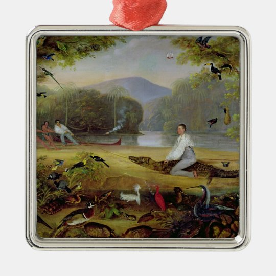 Charles Waterton capturing a cayman, 1825-26 Metal Ornament