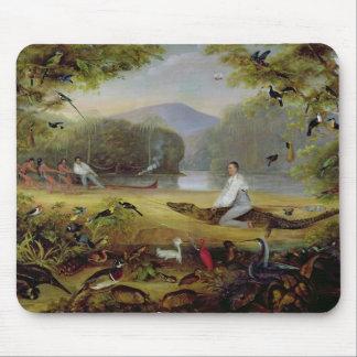 Charles Waterton capturing a cayman 1825-26 Mousepad