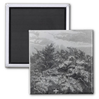 Charles Waterton's Grave 2 Inch Square Magnet
