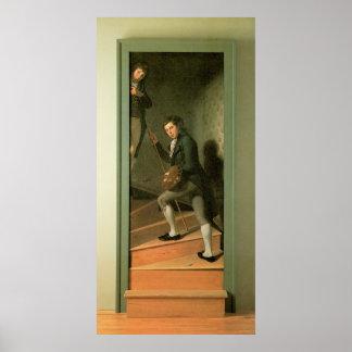 Charles Willson Peale el grupo de la escalera Póster