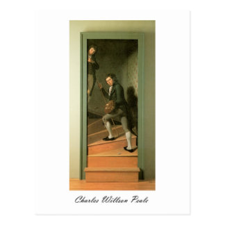 Charles Willson Peale The Staircase Group Postcard