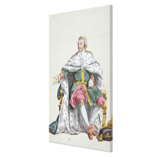 Charles XII (1682-1718) King of Sweden from 'Receu Canvas Print