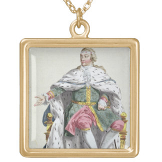 Charles XII (1682-1718) King of Sweden from 'Receu Gold Plated Necklace