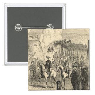 Charles XII de Suecia que entra en Copenhague Pin Cuadrada 5 Cm