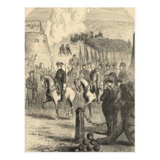 Charles XII de Suecia que entra en Copenhague Postales