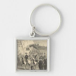 Charles XII of Sweden entering Copenhagen Keychain