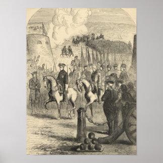 Charles XII of Sweden entering Copenhagen Poster