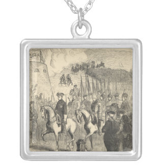 Charles XII of Sweden entering Copenhagen Silver Plated Necklace