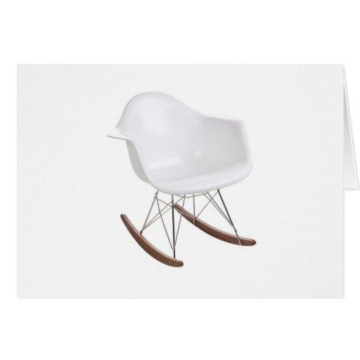 Charles y mecedora de Eames Shell Eiffel del rayo Tarjeton