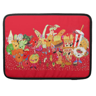 "'Charlespals' Red Macbook Pro 15"" Sleeve"
