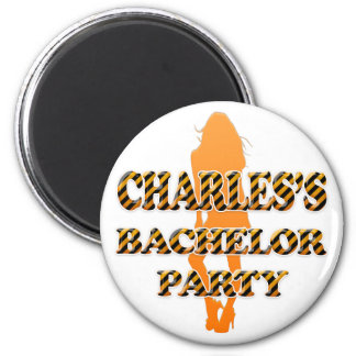 Charles's Bachelor Party 2 Inch Round Magnet