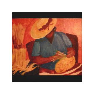 Charleston Basket Lady Canvas Print