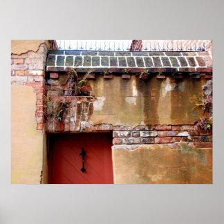 Charleston brick and mortar foundation view print