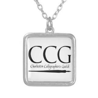 Charleston Calligraphers Guild Silver Plated Necklace