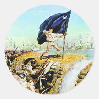 Charleston, Carolina del Sur junio de 1776 Etiquetas Redondas