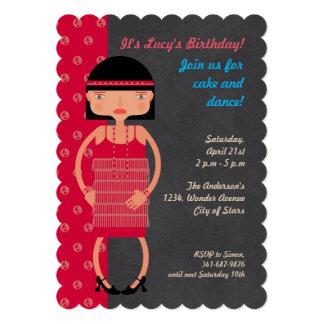 Charleston Chic girl Birthday Party Card