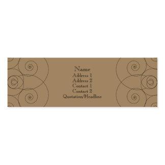 Charleston - chocolate con leche tarjeta de visita