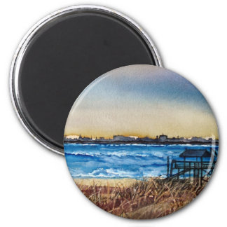 Charleston Coastline Refrigerator Magnet