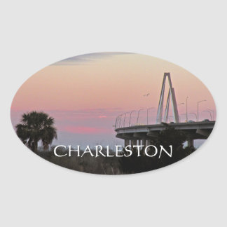 Charleston Cooper RIver Bridge Sunset Sticker