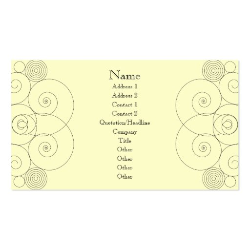 Charleston - Cream Double-Sided Standard Business Cards (Pack Of 100)