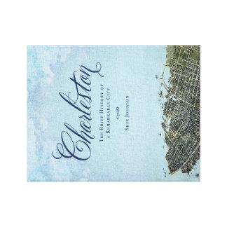 Charleston el libro - lona de arte de la cubierta impresión en lienzo estirada
