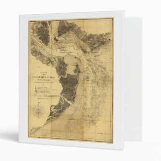 Charleston Harbor Civil War Map Sept. 7, 1863 Binder