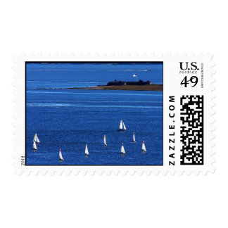 Charleston Harbor Postage Stamp