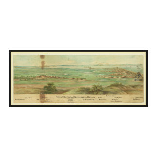 Charleston Harbor South Carolina (1860-1865) Canvas Print