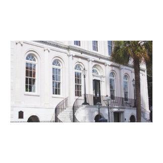 Charleston histórica, Carolina del Sur Lona Envuelta Para Galerías