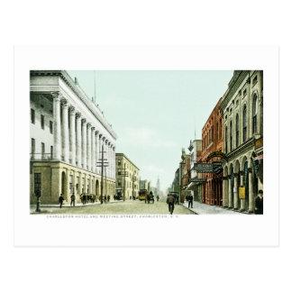 Charleston Hotel and Meeting Street, Charleston,SC Postcard