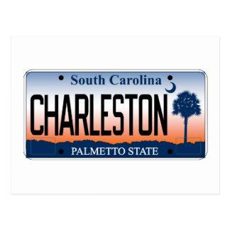 Charleston License Plate Postcards