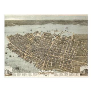 Charleston Map Postcard